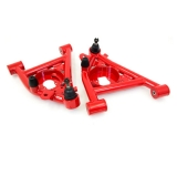1982-1992 Camaro UMI Front Lower A-Arms, Polyurethane Bushings - Red: 3031-R