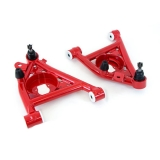 1982-1992 Camaro UMI Front Lower A-Arms, Delrin Bushings - Red: 3032-R