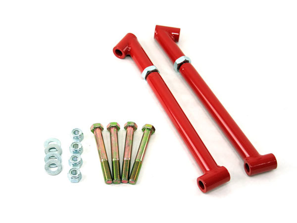 1968-1972 El Camino UMI Frame Braces / Trailing Arm Reinforcements, Red: 4028-R