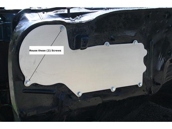 1964 1972 Chevelle Heater Box Delete Panel Black