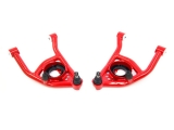UMI 1964-1972 Chevelle Tubular Front Lower A-Arms, Delrin Bushings, 0.5 Inch Taller Ball Joints, Red