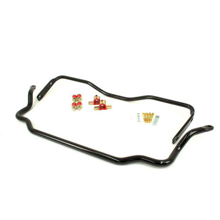 1964-1972 Chevelle UMI Solid Front and Rear Sway Bar Kit, Black: 403534-B