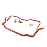1964-1972 GM A-Body UMI Solid Front and Rear Sway Bar Kit, Red
