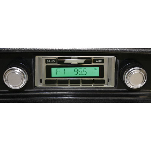 1969-1972 Chevelle Custom AutoSound USA-230 AM/FM Stereo 200 Watts Chrome: CAM-CH92-230