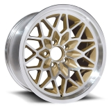 US Wheel Series 350 15x8 Gold/Machined Snowflake, 5x4.75 Bolt Pattern, 4.5 BS, 0 Offset