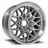 US Wheel Series 350 15x8 Silver/Machined Snowflake, 5x4.75 Bolt Pattern, 5.125 BS, 16 Offset