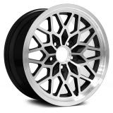 US Wheel Series 350 17x9 Black/Machined Snowflake, 5x4.75 Bolt Pattern, 5.125 BS, 3 Offset