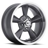 US Wheel Series 701 15x7 Gunmetal Retro, 5x4.75 Bolt Pattern, 4 BS, 0 Offset