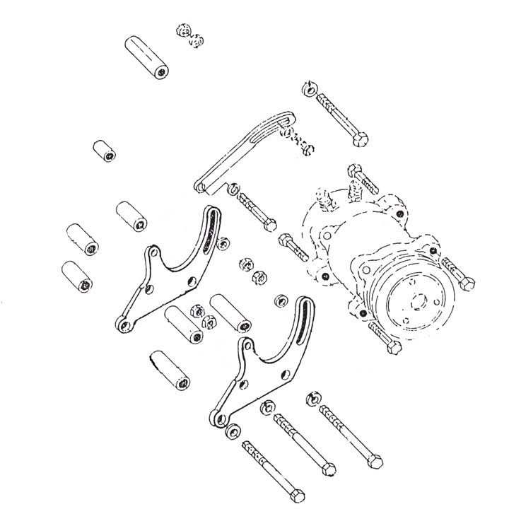 1978-1987 Buick Air Conditioning Compressor Bracket Set 231 V6