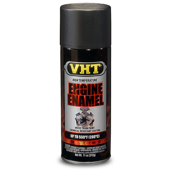 VHT High Temperature Radiator & Engine Paint; GM Satin Black; 11 oz. Aerosol