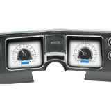 1968 El Camino Dakota Digital VHX Instrument System, Silver Alloy Faces, Blue Numbers