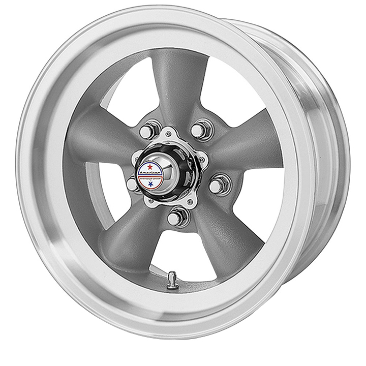 American Racing Torq Thrust D 1-Piece Wheel, 15x8 Torq Thrust Gray with Machined Lip: VN10558061