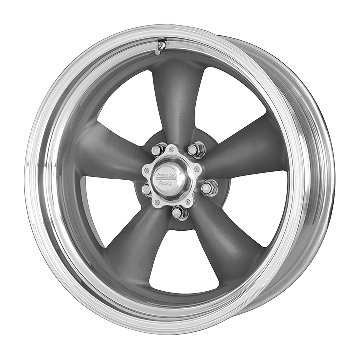 American Racing Classic Torq Thrust 2 1-Piece Wheel, 15x7 Grey with Machined Lip: VN2155761