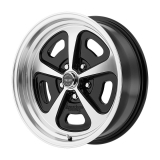 American Racing 500 MonoCast 1-Piece Wheel, 15x7 Gloss Black with Machined Lip: VN50157034500