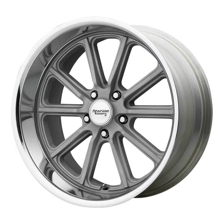 American Racing Rodder Wheel, 17x7 Vintage Silver with Diamond Cut Lip: VN50777034400