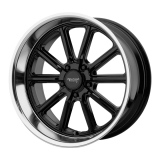 American Racing Rodder Wheel, 17x8 Gloss Black with Diamond Cut Lip: VN50778034300