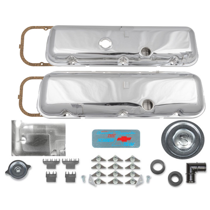 1967-1981 Camaro Big Block Valve Cover Kit OE Correct No Slant