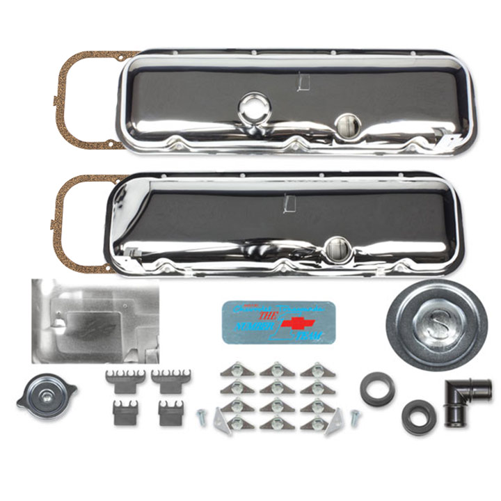 1967-1981 Camaro Big Block Valve Cover Kit OE Correct With Slant