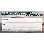 Camaro Parts Gift Certificate $25