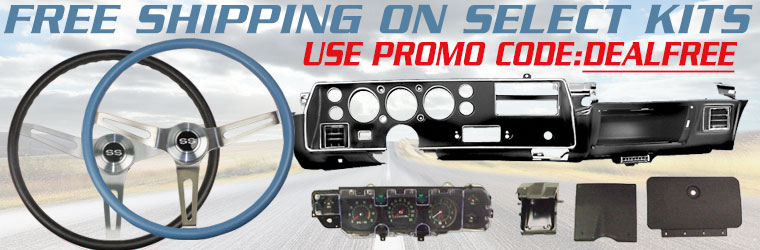 Free Shipping on Steering Wheel Kits and Dahs Carriers!