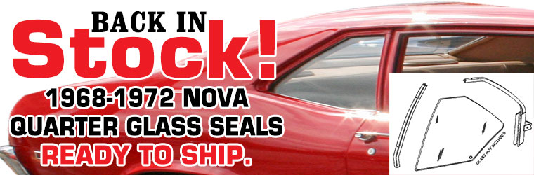1968-1972 Nova Quarter Glass Seal