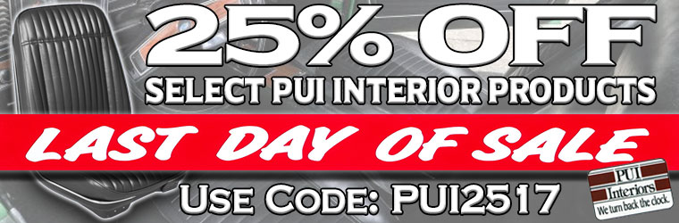 PUI Sale! 25% Off With Coupon!