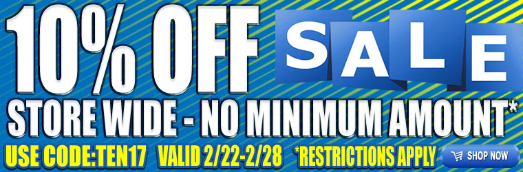 10% Off Coupon!  No Order Minimum!