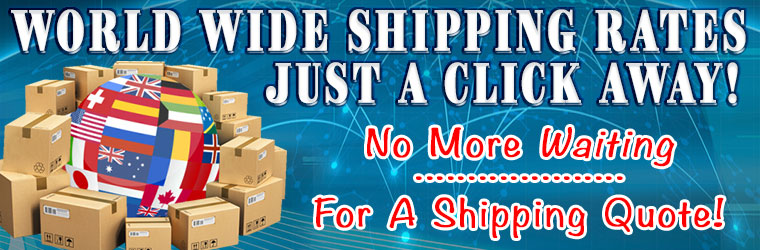 World Wide Shipping Rates Are Now Available Online!