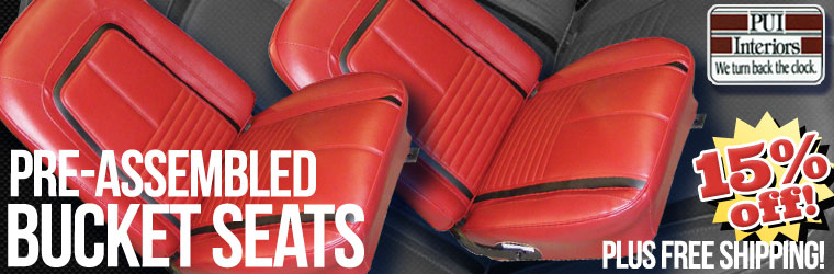 Pre-Assembled Bucket Seats on sale! 15% off and Free Shipping with Coupon!