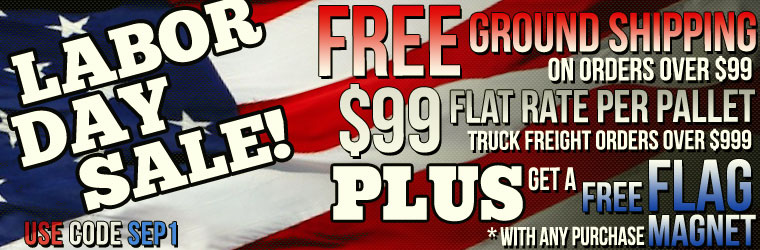 Labor Day Sale!  Free Ground Shipping On Orders Over $99.  Only at SS396.com!